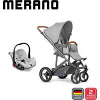 Carrinho De Bebê Travel System Abc Design Merano Woven Grey (Com Shopping Bag)