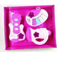 Brinquedo Bandinha 3 Pcs Com Luz E Som Angel Music Rosa