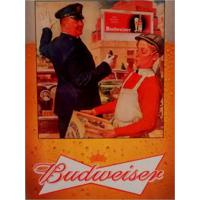 Placa Decorativa Em Mdf Cerveja Propaganda Budweiser Old 30X40 Único