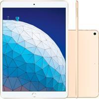 Tablet Apple Ipad Air 3º Geração 10.5'' Wi-Fi + Cellular 256Gb Dourado Mv1G2