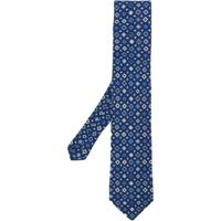 Etro Gravata De Seda Com Estampa - Azul