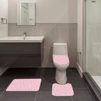 Jogo De Banheiro Conchas Rosa Único