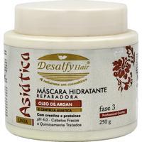 Máscara Hidratante Reparadora Óleo De Argan E Centella Asiática Desalfy Hair 250 G
