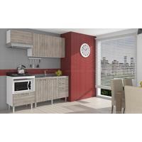 Cozinha Modulada Completa Com 4 Módulos Branco/Fresno - Art In Móveis