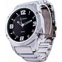 Relógio Curren Analógico Casual 8111 Prata
