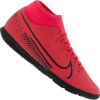 Chuteira Futsal Nike Mercurial Superfly 7 Club Ic - Adulto - Coral/Preto