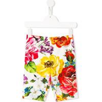 Dolce & Gabbana Kids Legging Com Estampa Floral - Branco