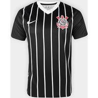 Camisa Corinthians Ii 20/21 S/N° Estádio Nike Masculina - Masculino-Preto+Branco