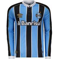 Camisa Umbro Grêmio I 2019 Manga Longa - Masculino