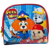 Lancheira Infantil Pets Hero La32733Ph Masculina - Masculino-Azul