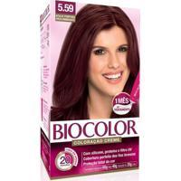 Tintura Biocolor Fluid Gel 5.59 Acaju Púrpura