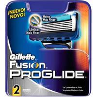 Cartucho De Recarga 2 Unidades Gillette Fusion Proglide Recarga Gillette - Masculino-Incolor