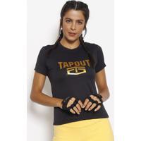 Camiseta Dry Tech® - Preta & Douradatapout