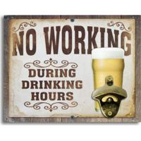 Abridor De Garrafas De Parede No Working During Drinking Hours Único