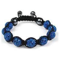 Pulseira Bracelete Tudo Jóias Shambala Cor Azul