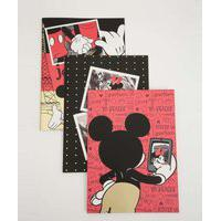 Kit Cadernetas Anotações Estampa Mickey E Minnie Disney