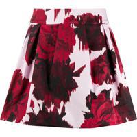 Alexandre Vauthier Floral Print Mini Skirt - Vermelho