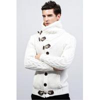 Cardigan Masculino Design Rolê Elegante - Branco G