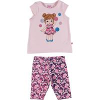 Conjunto Infantil Para Bebê Menina - Rosa