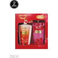 Kit 2Pçs Love Secret Loção Deo Coporal Body Splash Strawberry