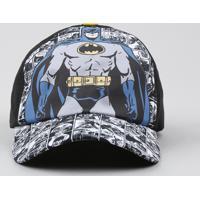 Boné Infantil Aba Curva Batman Preto