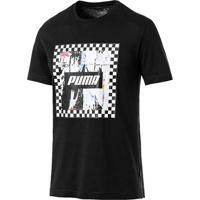 Camiseta Puma Check Graphic Masculina - Masculino-Preto