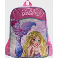Mochila Barbie Sereia Infantil Luxcel Feminina - Feminino-Rosa