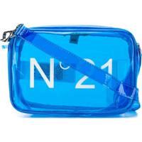 Nº21 Kids Bolsa Tiracolo Com Logo - Azul