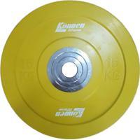 Anilha Emborrachada Olímpica Para Exercícios Funcionais 15 Kg Konnen Fitness - Unissex