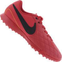 Chuteira Society Nike Tiempo Legend X 7 Academy 10R Tf - Adulto -  Vermelho Preto 9b41ecc4b7c90