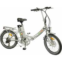 Bicicleta Elétrica Biobike, Quadro Em Alumínio, Modelo Js 20-Prata