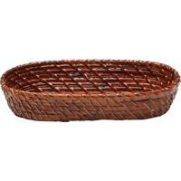 Bandeja Texturizada- Marrom- 13X33X7Cm- Rojemacbon Gourmet