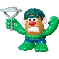 Mini Figura Transformável - Mr. Potato Head - Marvel - Hulk - Hasbro - Disney - Unissex-Incolor