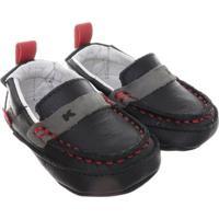 Sapato Masculino Bebê Kea Preto E Cinza - Masculino-Preto