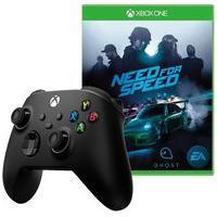 Controle Microsoft Xbox, Sem Fio, Preto - Qat-00007 + Game Need For Speed