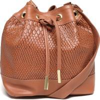 Bolsa Saco Fiveblu Texturizada Pequena Caramelo