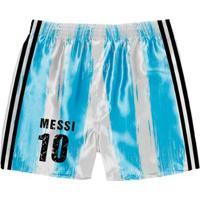 Cueca Samba Canção Futebol Argentina Messi Masculina - Masculino-Azul