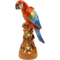 Escultura Decorativa De Porcelana Arara Wales