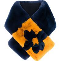 N.Peal Cachecol Com Flor - Azul