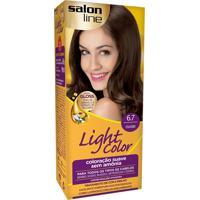 Tintura Creme Salon Line Light Color Chocolate 6.7 Kit