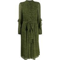 Michael Michael Kors Vestido Com Babados E Estampa Floral - Verde
