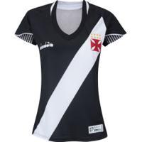 Camisa Do Vasco Da Gama I 2018 Diadora - Feminina - Preto