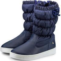 Bota Infantil Bibi Marinho Com Laço Urban Boots 1087012 37
