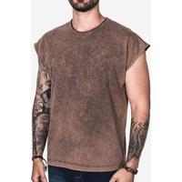 Camiseta Oversized Sleeveless Marmorizada 103001