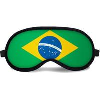 Máscara De Dormir Tritengo Brasil - Unissex-Verde+Amarelo