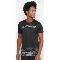 Camiseta Adidas Gráfica Response Masculina - Masculino-Preto