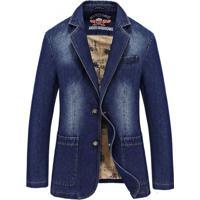 Blazer Jeans Masculino - Azul Xg
