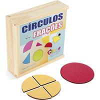 Fracoes - Circulos De Fracoes - Mdf - 55 Peças - Carlu