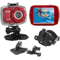 Câmera Filmadora Vivitar Ação Full Hd Dvr787 + Suporte P/ Capacete