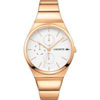 5ef60c42be2 Relógio Lacoste Feminino Aço Dourado - 2001037